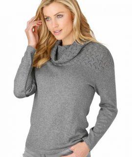 Behaaglijk Tricot Pullover Met Rolkraag