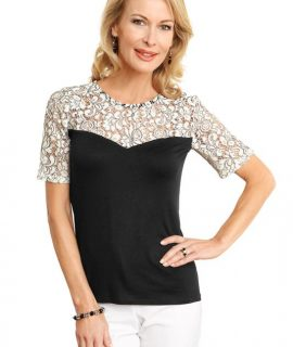 Elegant Kanten Shirt