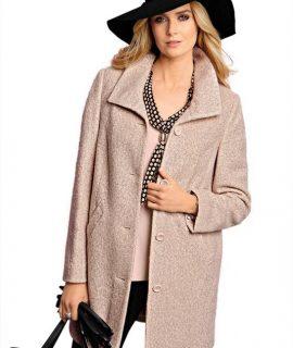Korte Wollen Mantel