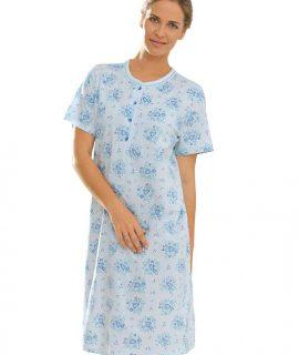 Nachthemd Met Knopenlijst En Korte Mouwen